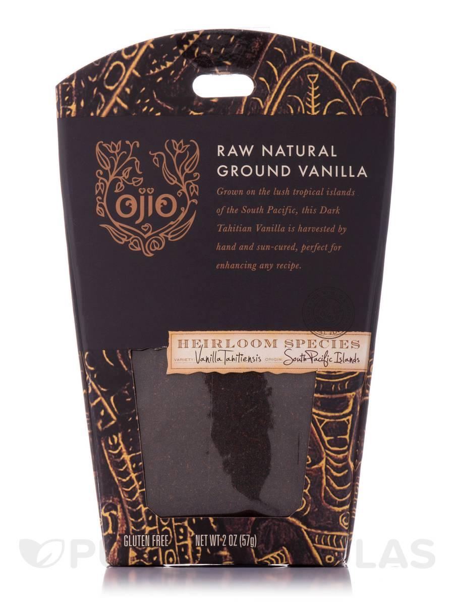 Ojio Vanilla Ground, Raw Natural - 2 oz (57 Grams)