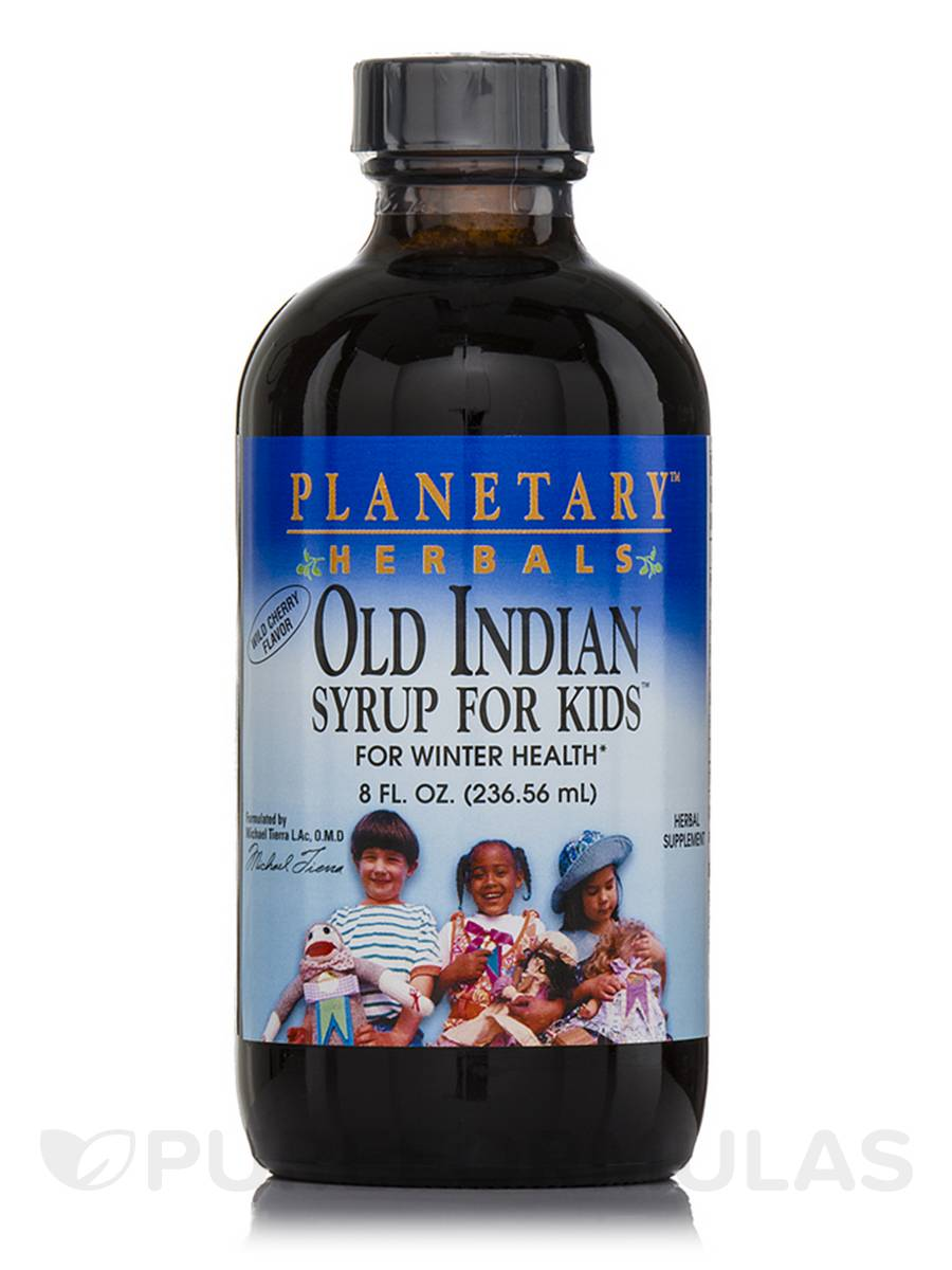 Old Indian Syrup for Kids Wild Cherry Flavor - 8 fl. oz (236.56 ml)