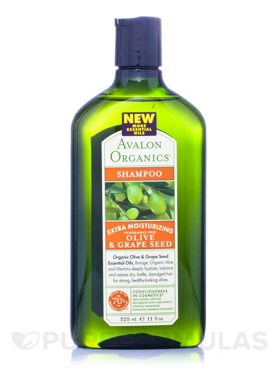 Olive & Grape Seed Extra Moisturizing Fragrance Free Shampoo - 11 fl. oz (325 ml)