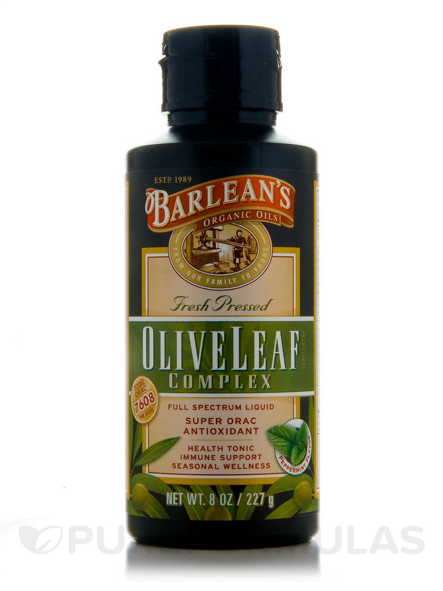 Olive Leaf Complex (Fresh Pressed - Peppermint Flavor) - 8 oz (227 Grams)