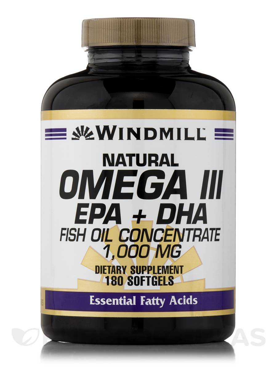 Omega 3 epa dha fish oil 1000 mg 180 softgels for Epa dha fish oil