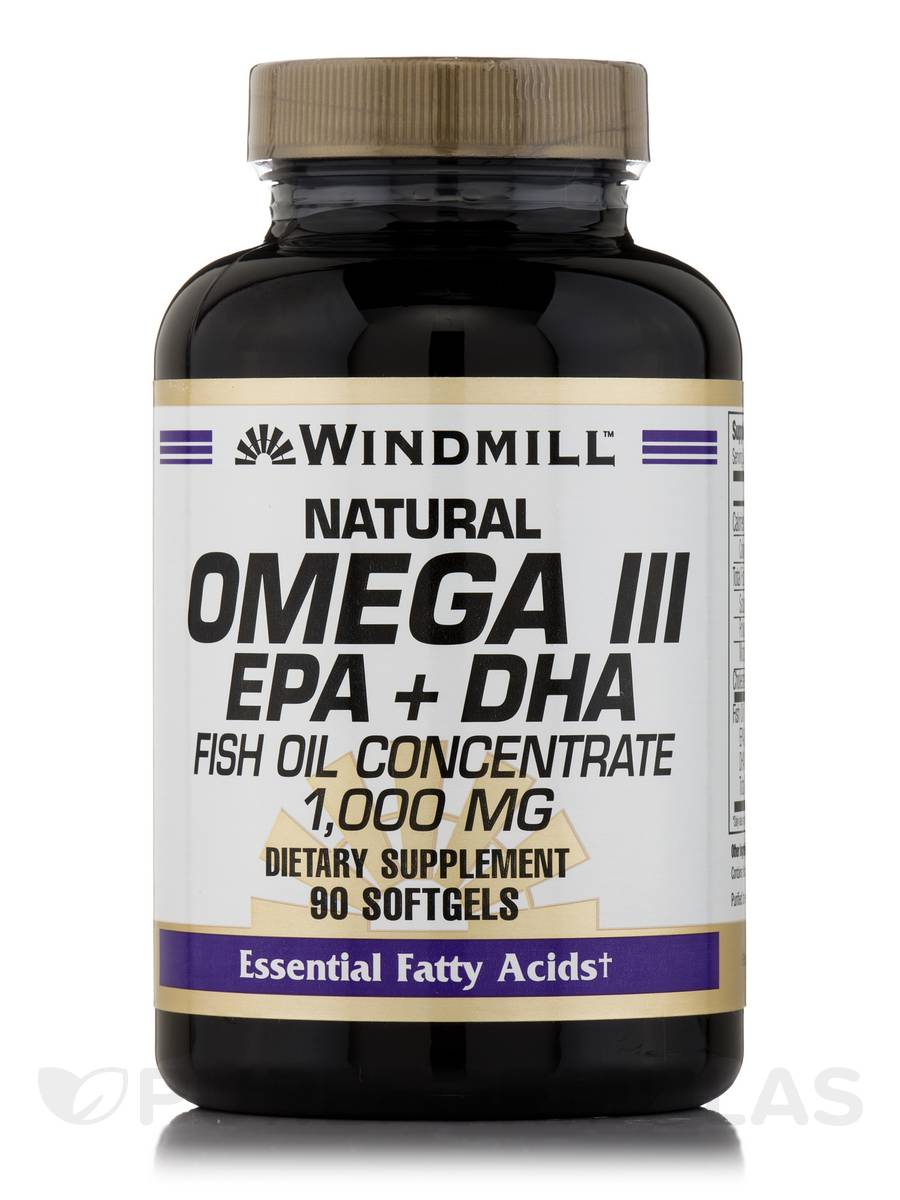 Omega 3 epa dha fish oil 1000 mg 90 softgels for Fish oil 1000 mg