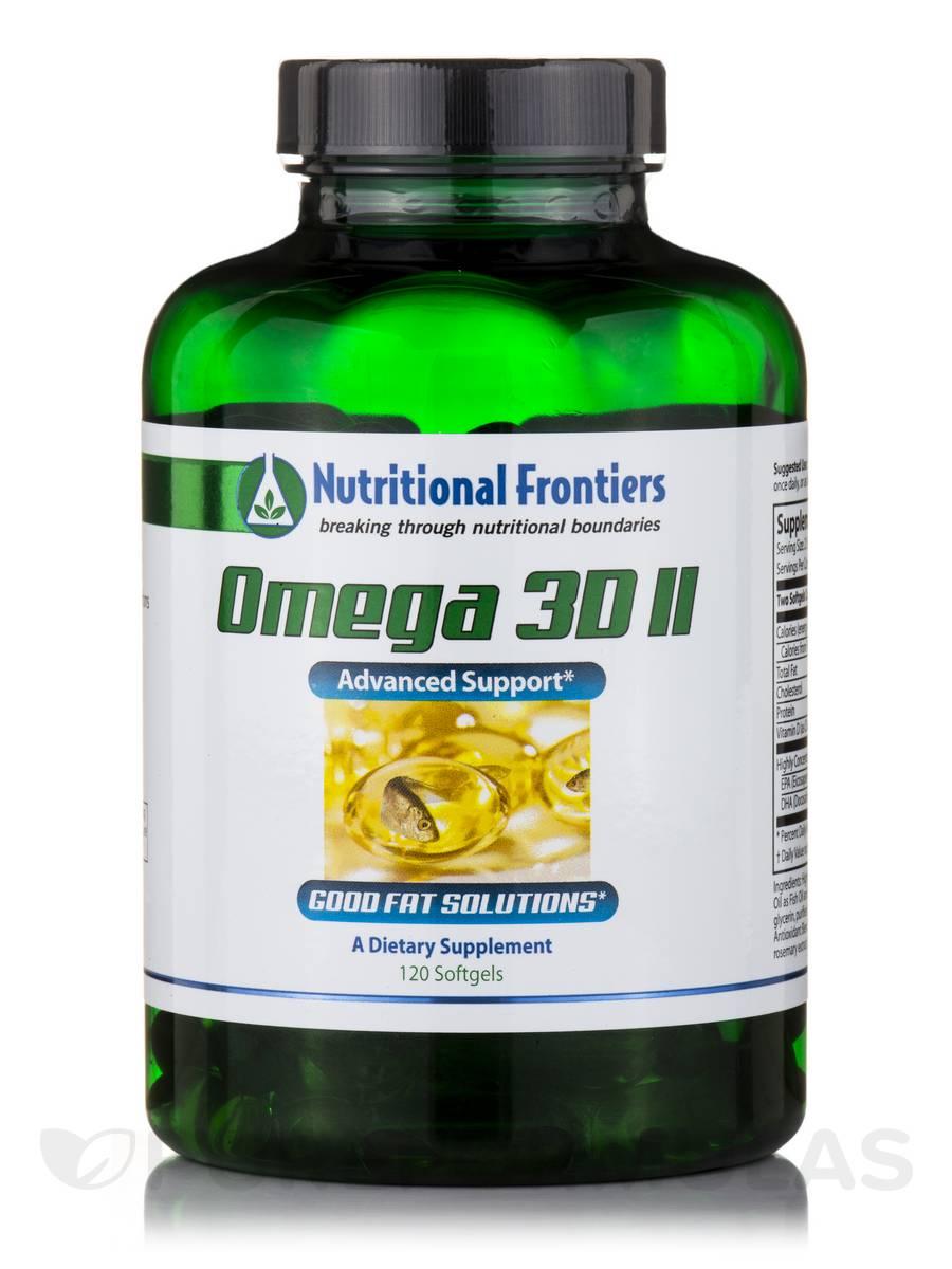 Omega 3D II, Natural Lemon Flavor - 120 Softgels