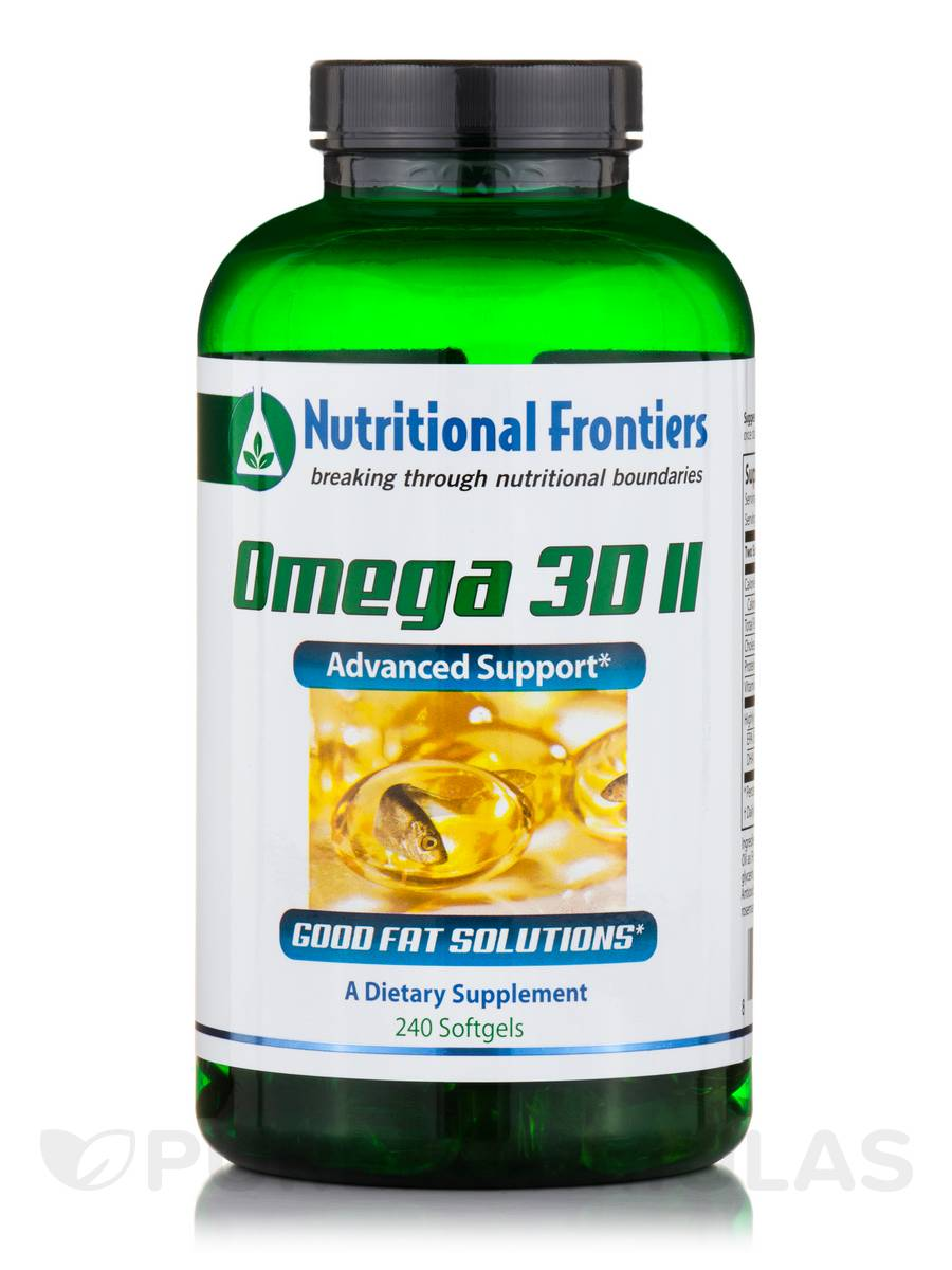 Omega 3D II, Natural Lemon Flavor - 240 Softgels
