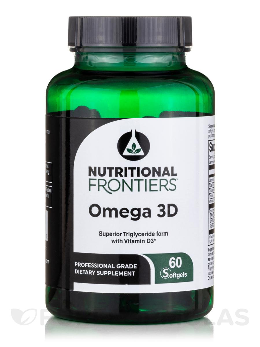 Omega 3D - 60 Lemon Flavored Softgels