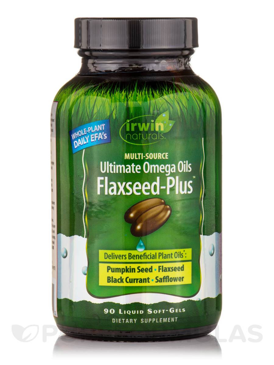 Multi-Source Ultimate Omega Oils Flaxseed-Plus™ - 90 Liquid Soft-Gels