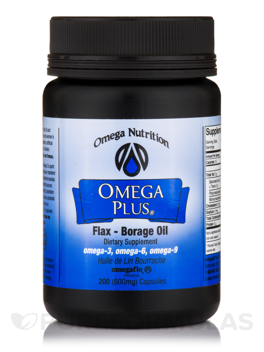Omega Plus Flax Borage Oil - 200 Softgels