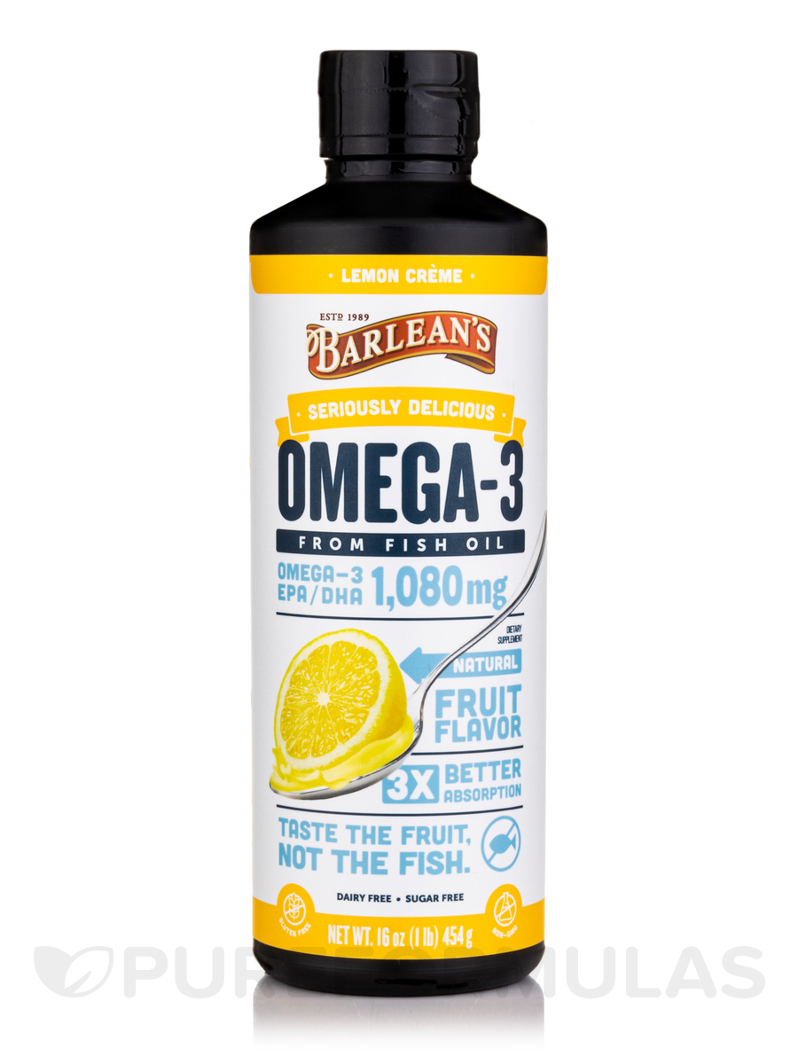 Omega Swirl Fish Oil Lemon Zest - 16 oz (454 Grams)