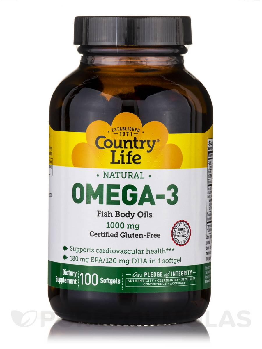 Omega-3 1000 mg Fish Oil - 100 Softgels