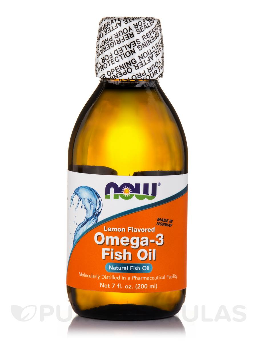 Omega-3 Fish Oil Lemon Flavored - 7 fl. oz (200 ml)