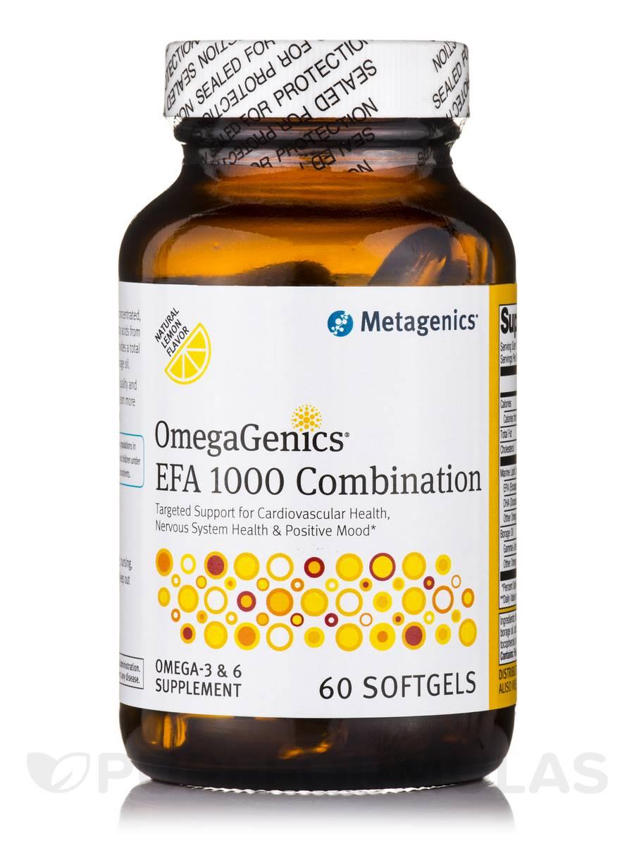 OmegaGenics® EFA 1000 Combination Natural Lemon Flavor - 60 Softgels