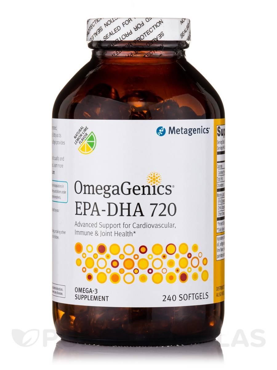 OmegaGenics® EPA-DHA 720 Natural Lemon-Lime Flavor - 240 Softgels