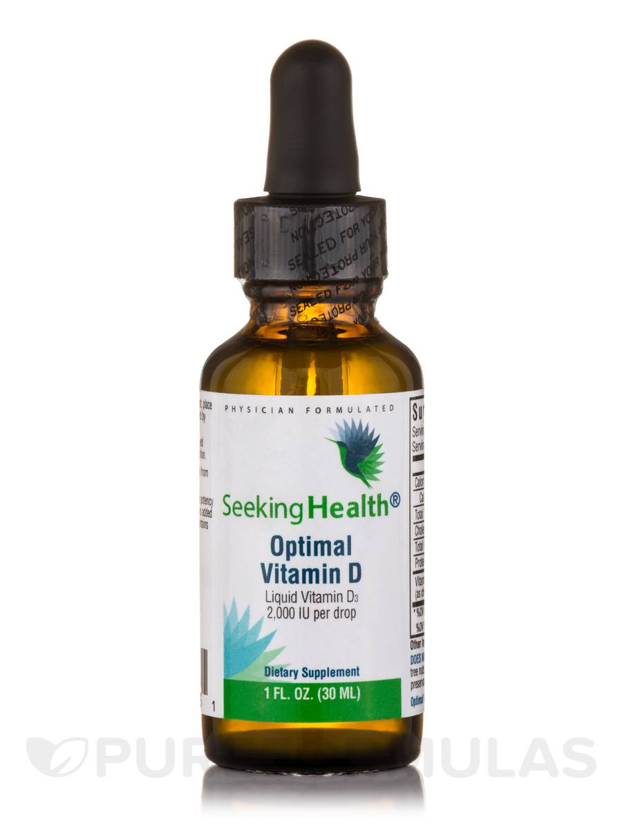 Optimal Vitamin D Drops 2.000 IU - 1 fl. oz (30 ml)
