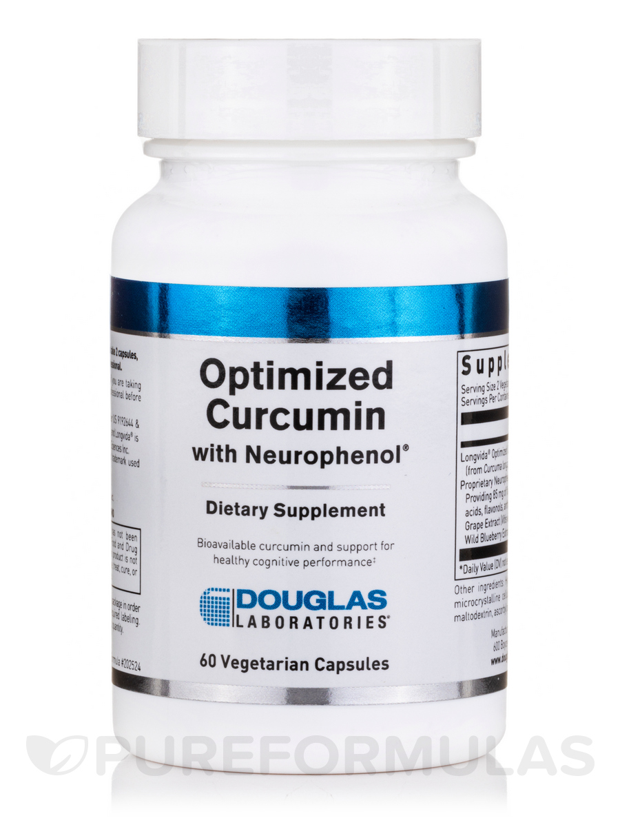 Optimized Curcumin with Neurophenol™ - 60 Vegetarian Capsules