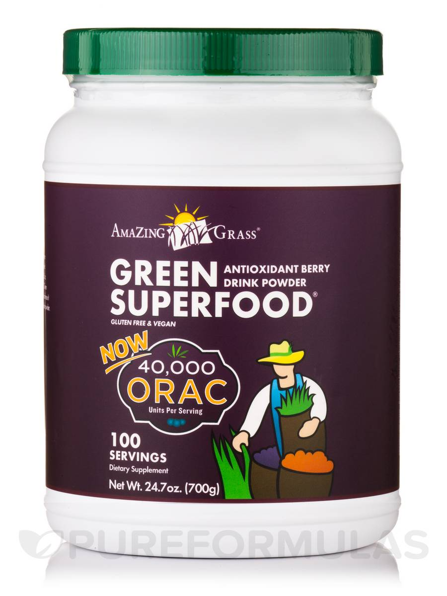 Green SuperFood® ORAC Powder - 100 Servings (24.7 oz / 700 Grams)