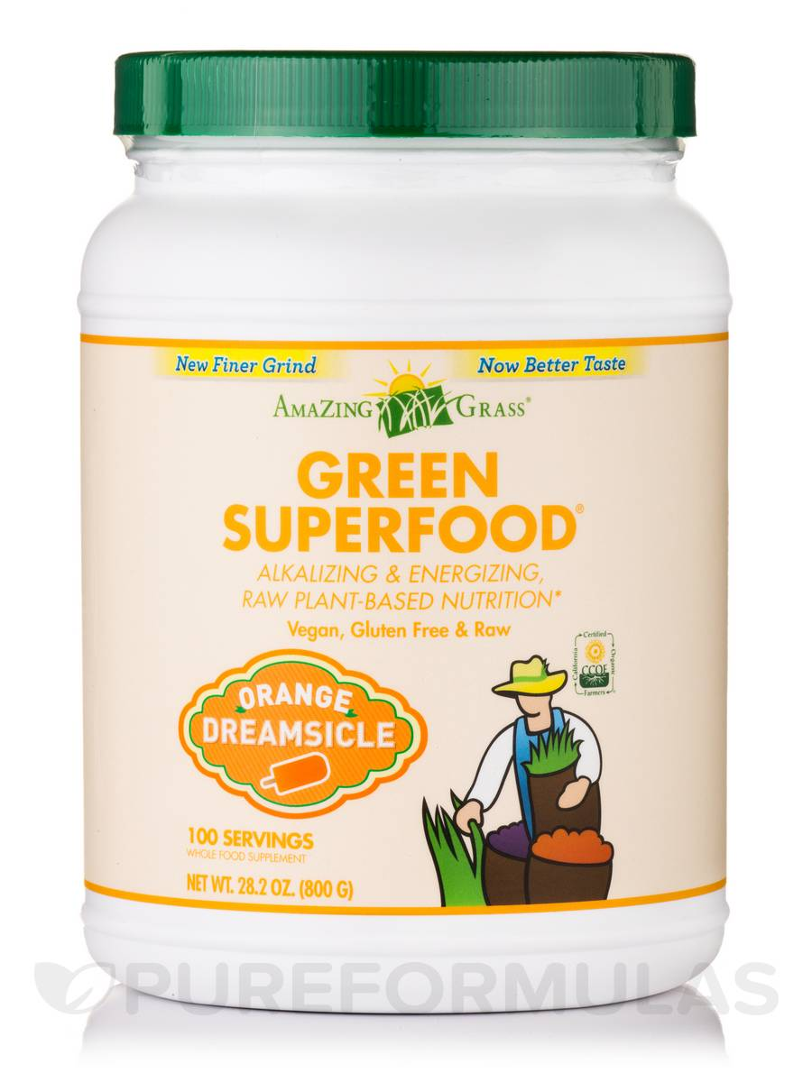 Green SuperFood® Orange Dreamsicle Powder - 100 Servings (28.2 oz / 800 Grams)
