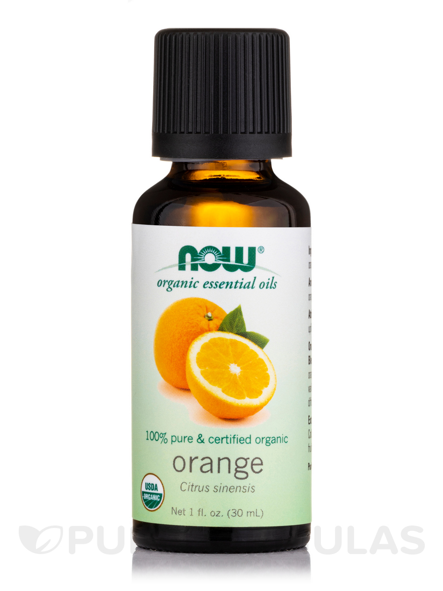 NOW® Organic Essential Oils - Orange Oil - 1 fl. oz (30 ml)