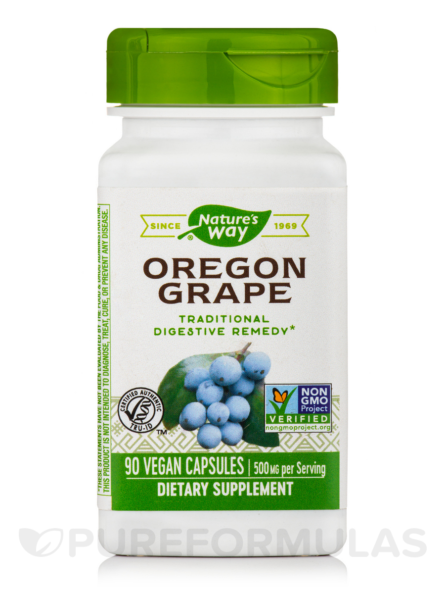 Oregon Grape Root 500 mg - 90 Capsules