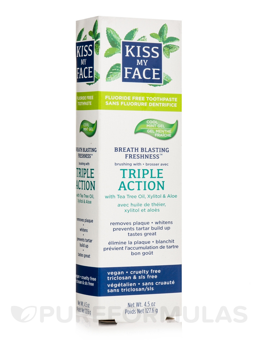 Triple Action Cool Mint Gel Fluoride Toothpaste - 4.5 oz (127.6 Grams)