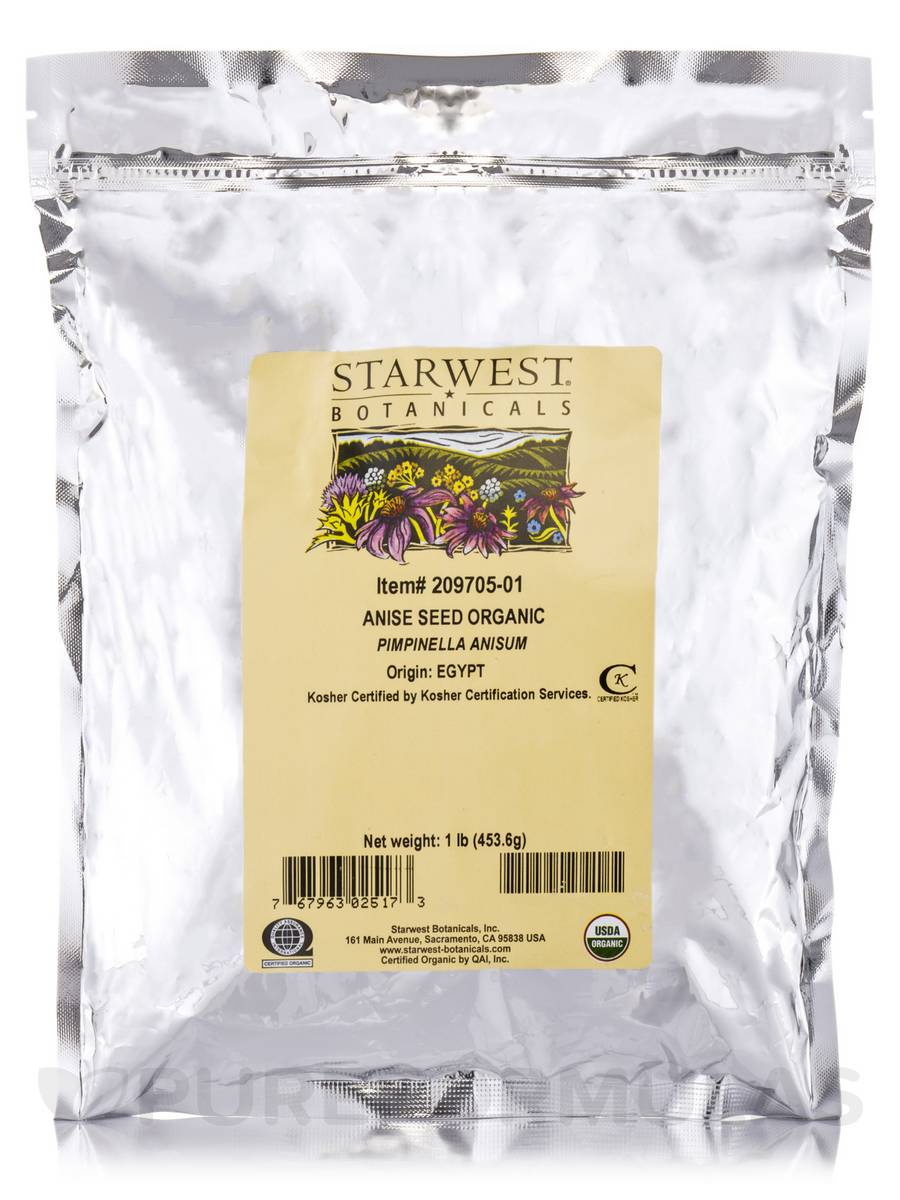 Organic Anise Seed - 1 lb (453.6 Grams)