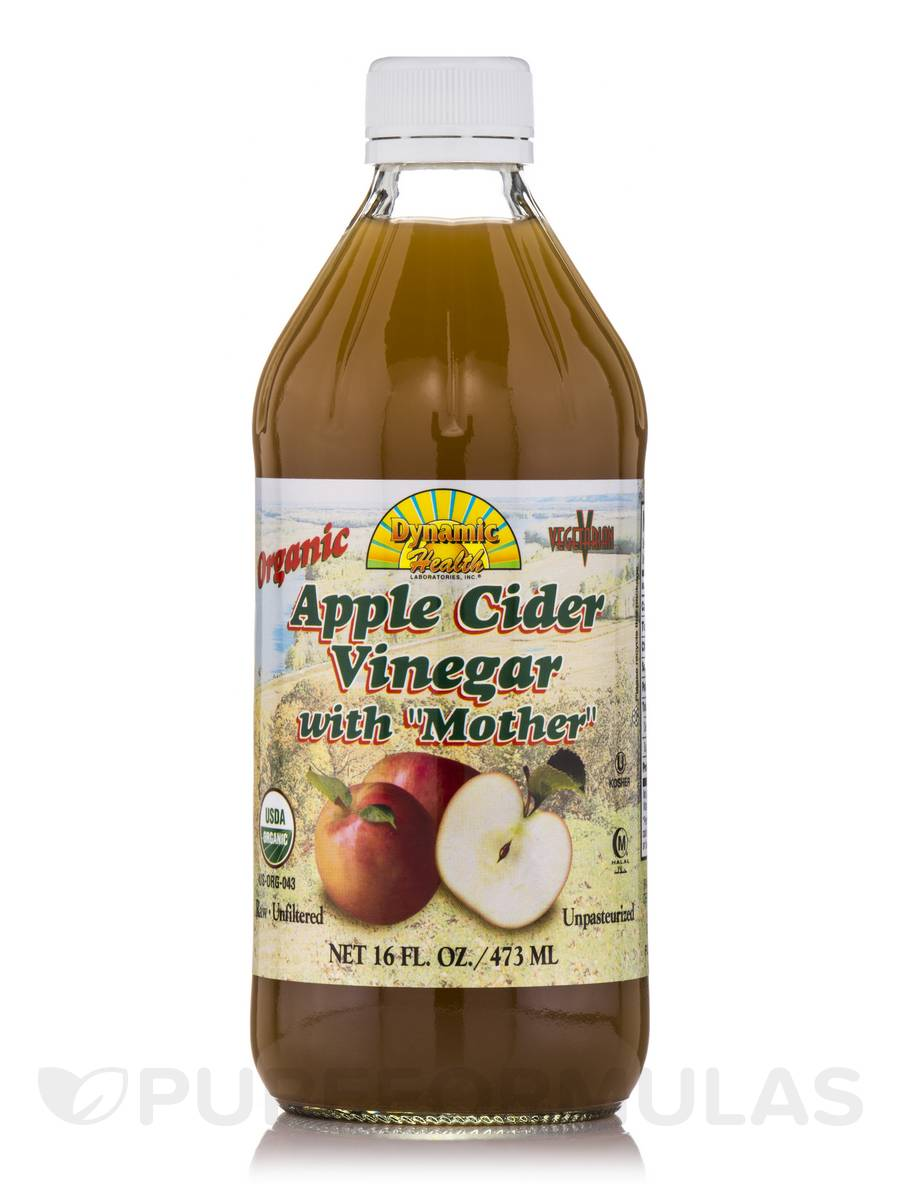 Organic - Raw Apple Cider Vinegar with Mother (Glass Bottle) - 16 fl. oz (473 ml)