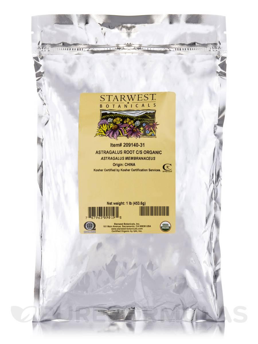 Organic Astragalus Root Cut & Sift - 1 lb (453.6 Grams)