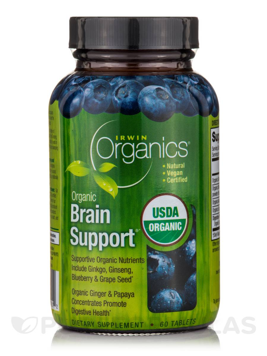 Organic Brain Support - 60 Tablets
