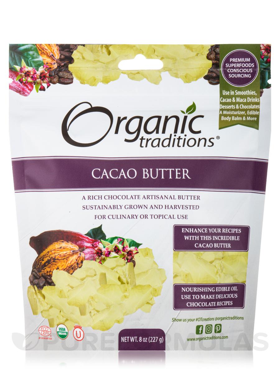 Organic Cacao Butter - 8 oz (227 Grams )