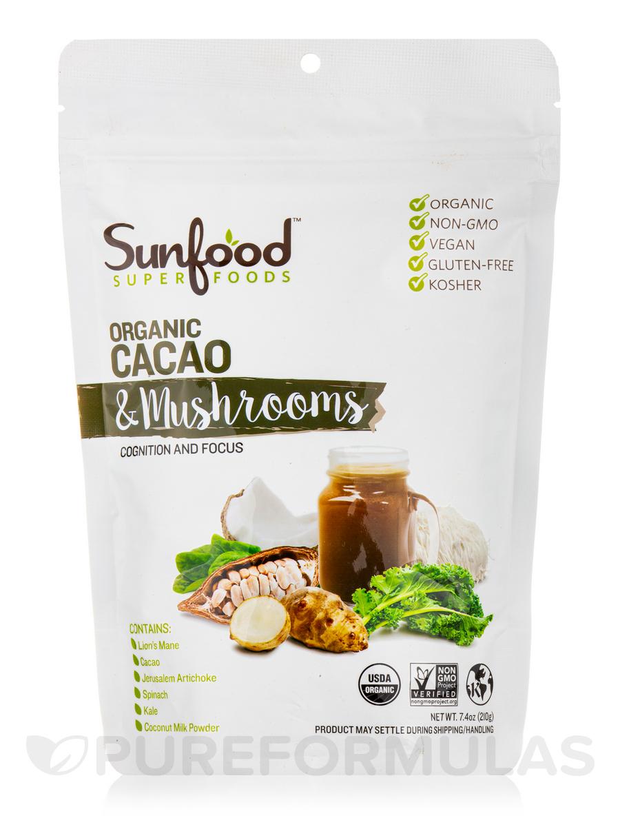 Cacao + Mushrooms, Organic - 7.4 oz (210 Grams)