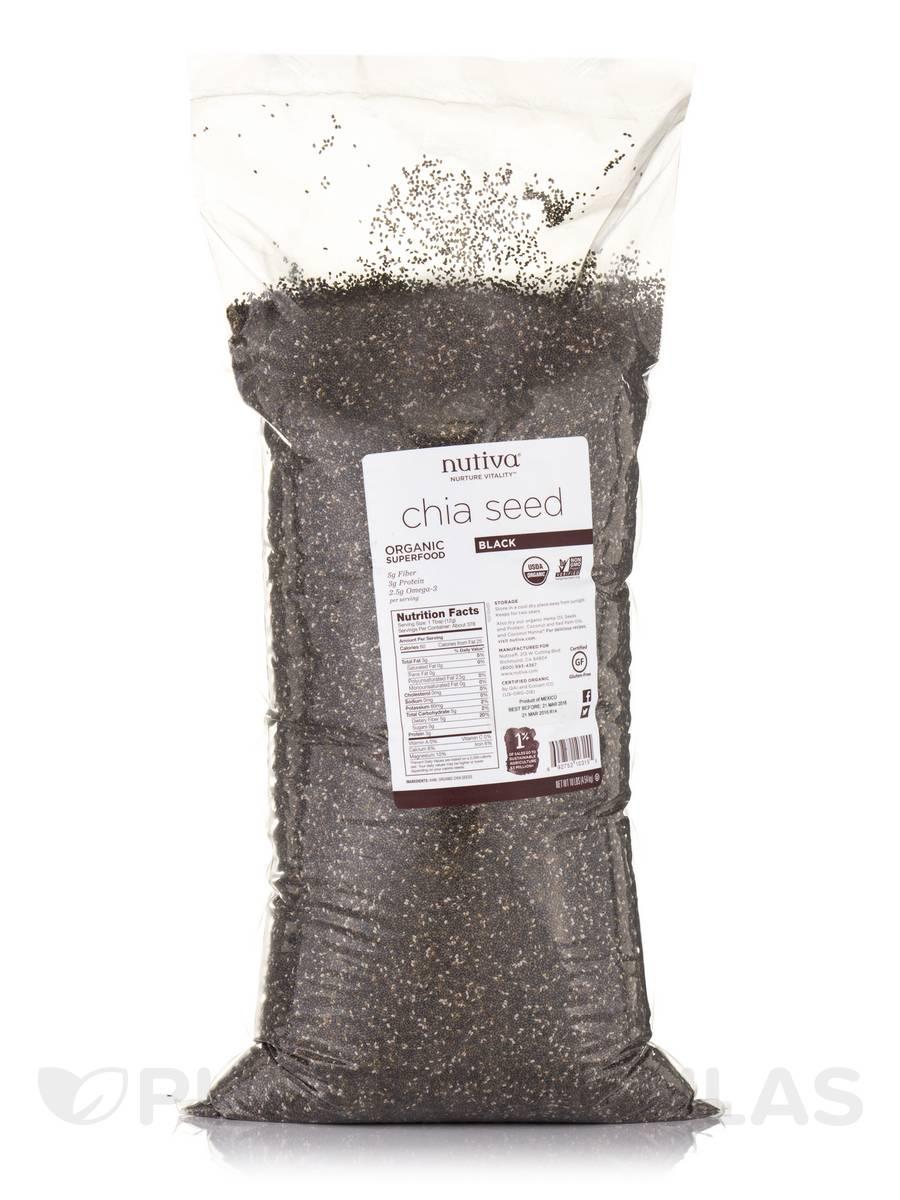 Organic Black Chia Seeds - 10 lbs (4.54 kg)