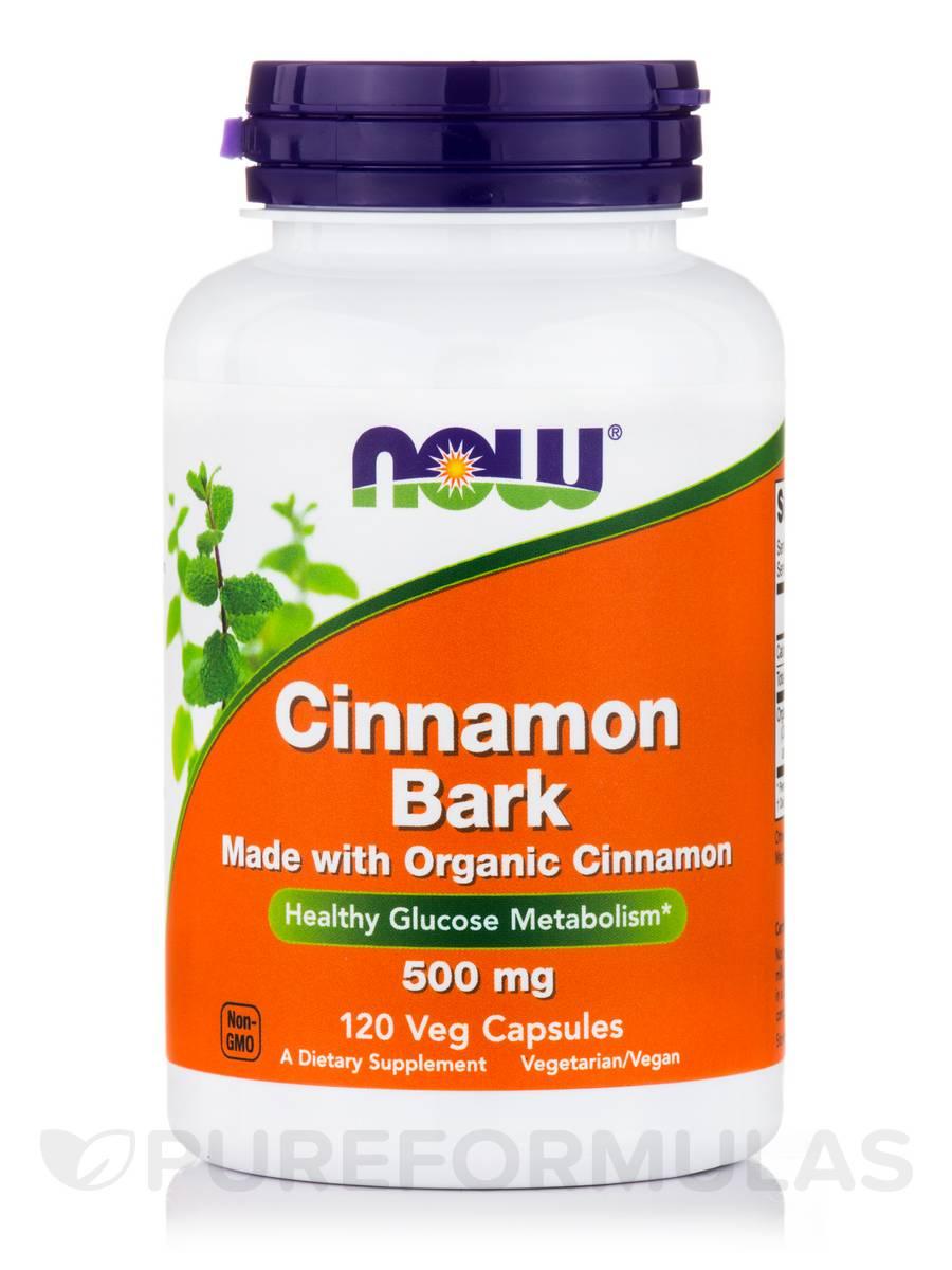 Cinnamon Bark 500 mg - 120 Veg Capsules