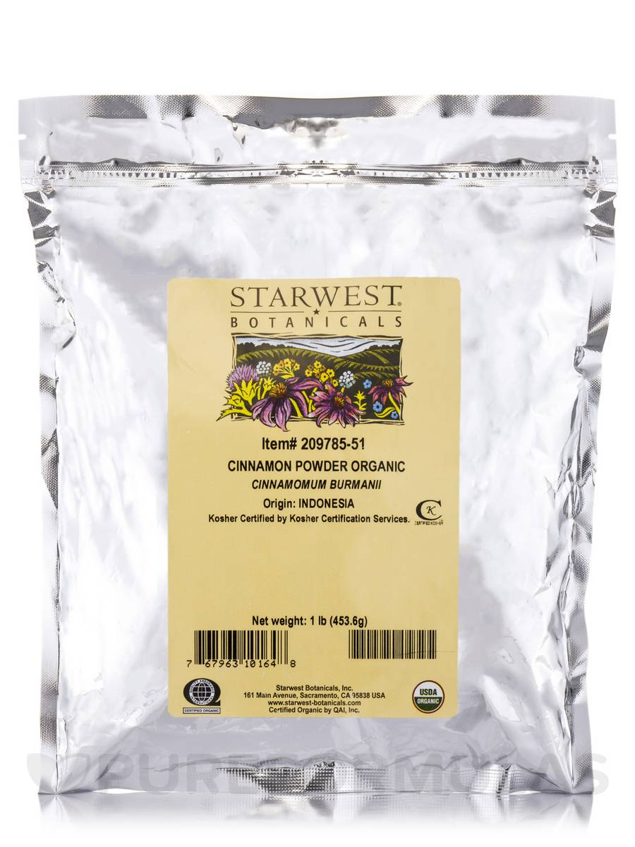 Organic Cinnamon Powder - 1 lb (453.6 Grams)