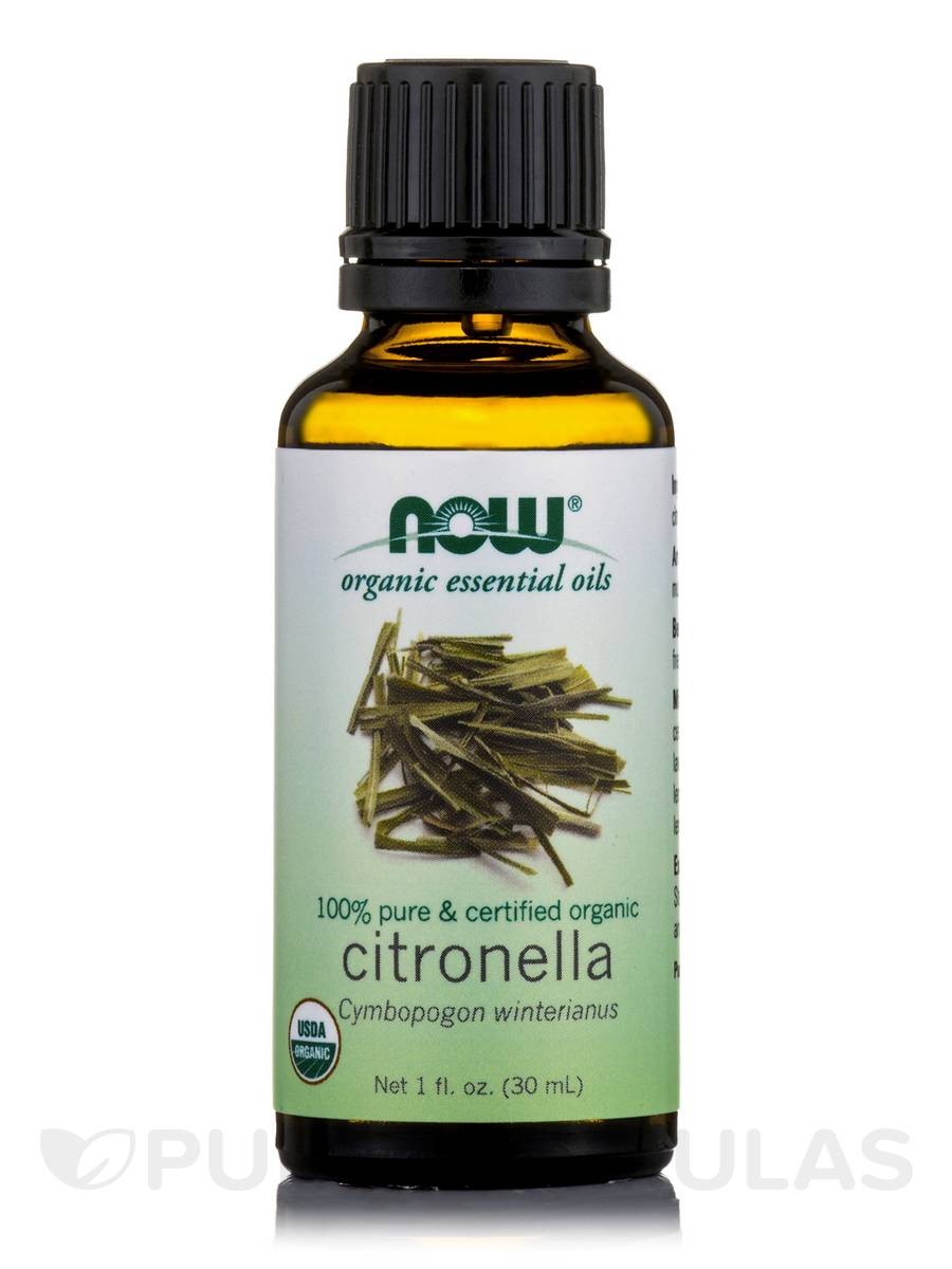 NOW® Organic Essential Oils - Citronella Oil - 1 fl. oz (30 ml)