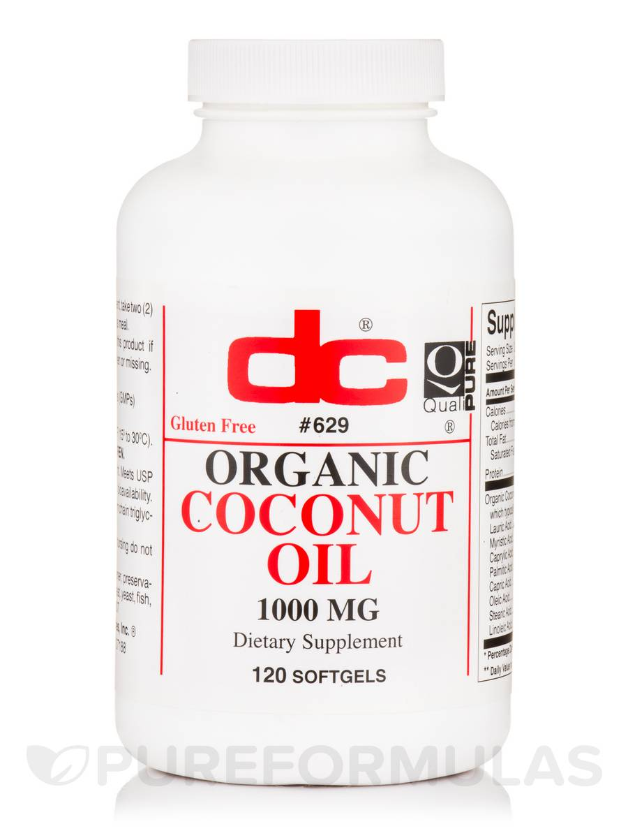 Organic Coconut Oil - 120 Softgels