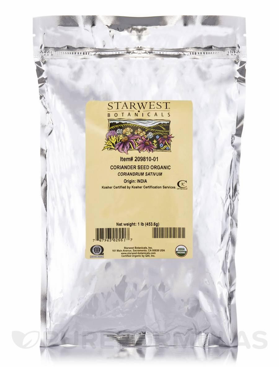 Organic Coriander Seed - 1 lb (453.6 Grams)