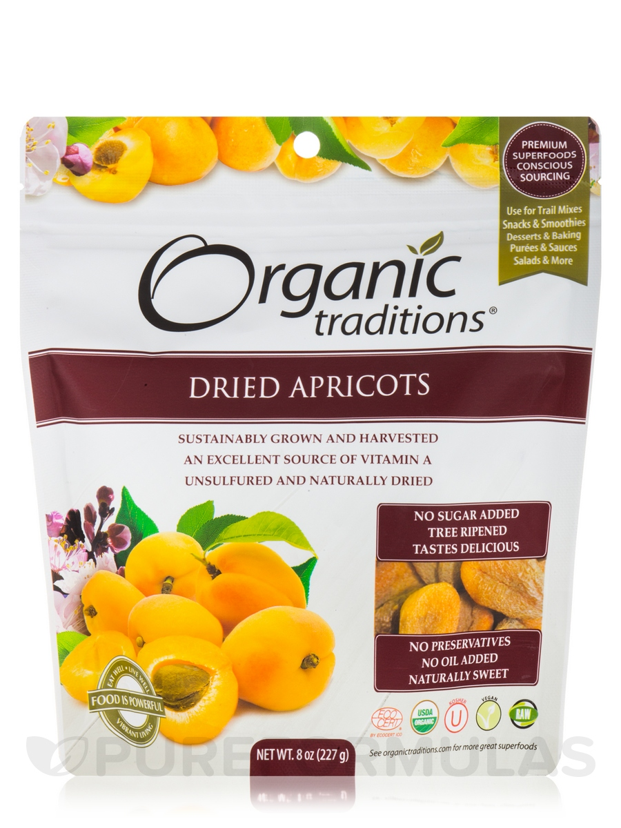 Organic Dried Apricots - 8 oz (227 Grams)