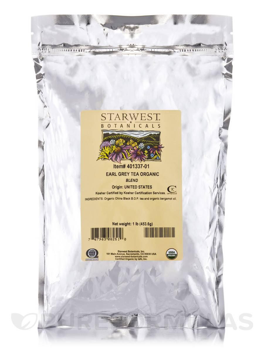 Organic Earl Grey Tea - 1 lb (453.6 Grams)