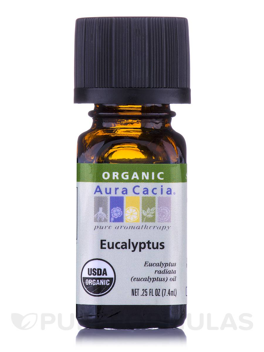 Organic Eucalyptus Essential Oil - 0.25 fl. oz (7.4 ml)
