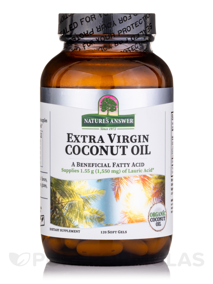 Extra Virgin Coconut Oil - 120 Softgels-3682