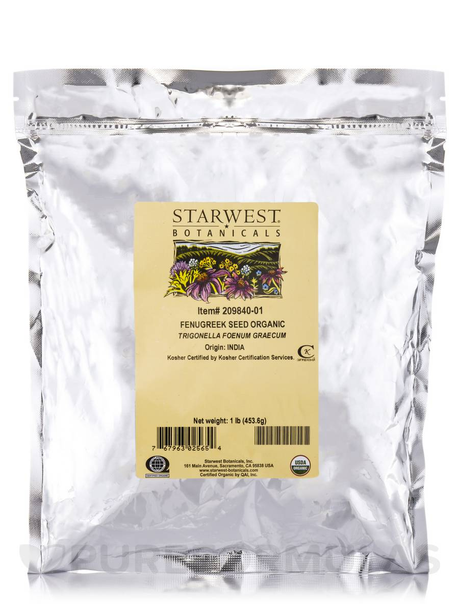 Organic Fenugreek Seed - 1 lb (453.6 Grams)