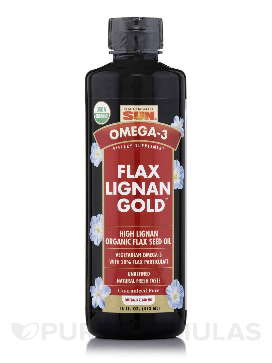 Organic Flax Lignan Gold - 16 fl. oz (473 ml)