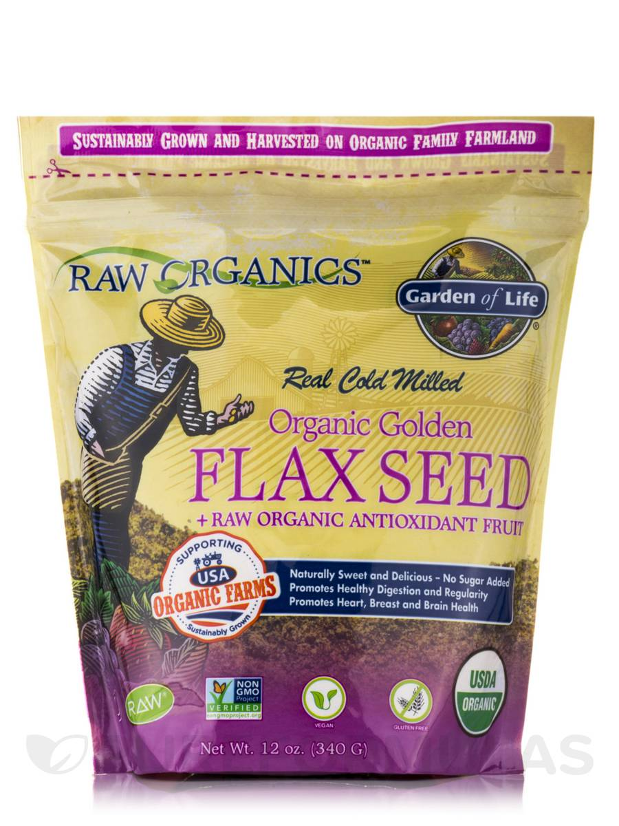 Organic Flax Meal plus local harvest fruits & berries - 12 oz (340 Grams)