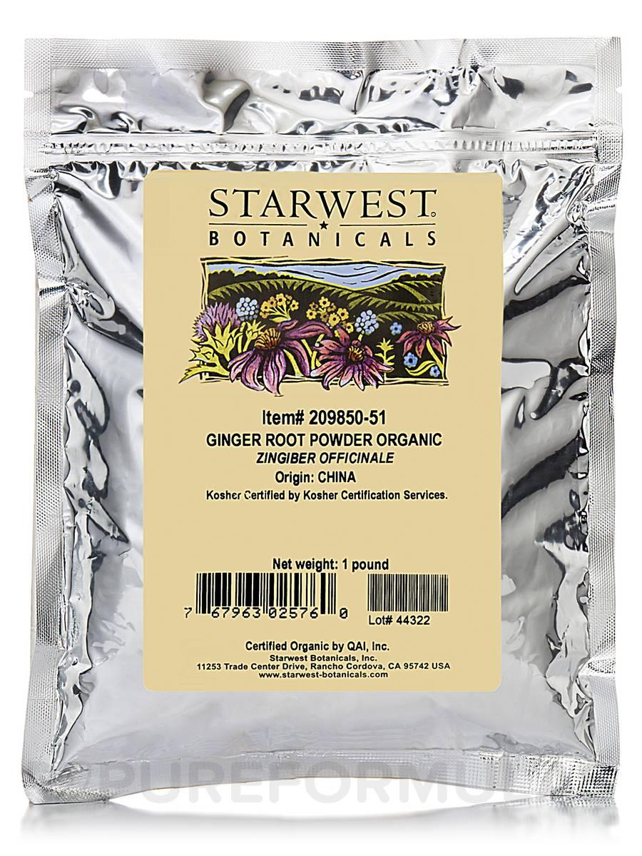 Organic Ginger Root Powder - 1 lb