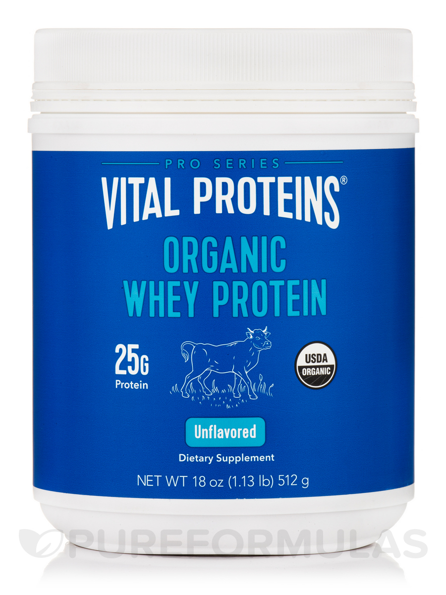 Organic Whey Protein, Unflavored - 18 oz (512 Grams)
