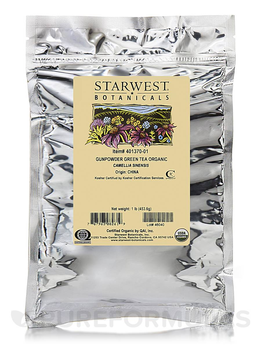 Organic Gunpowder Green Tea - 1 lb (453.6 Grams)