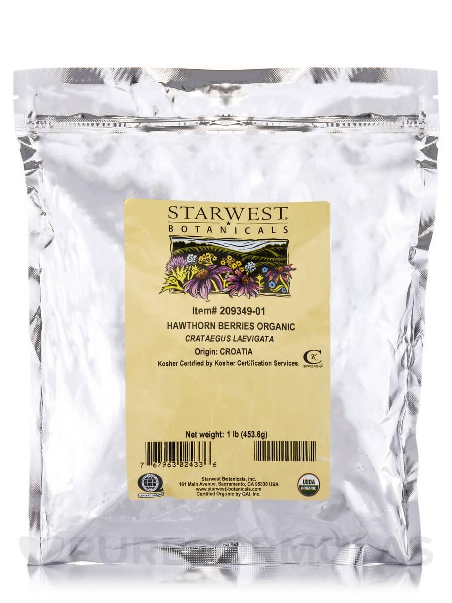Organic Hawthorn Berries - 1 lb (453.6 Grams)
