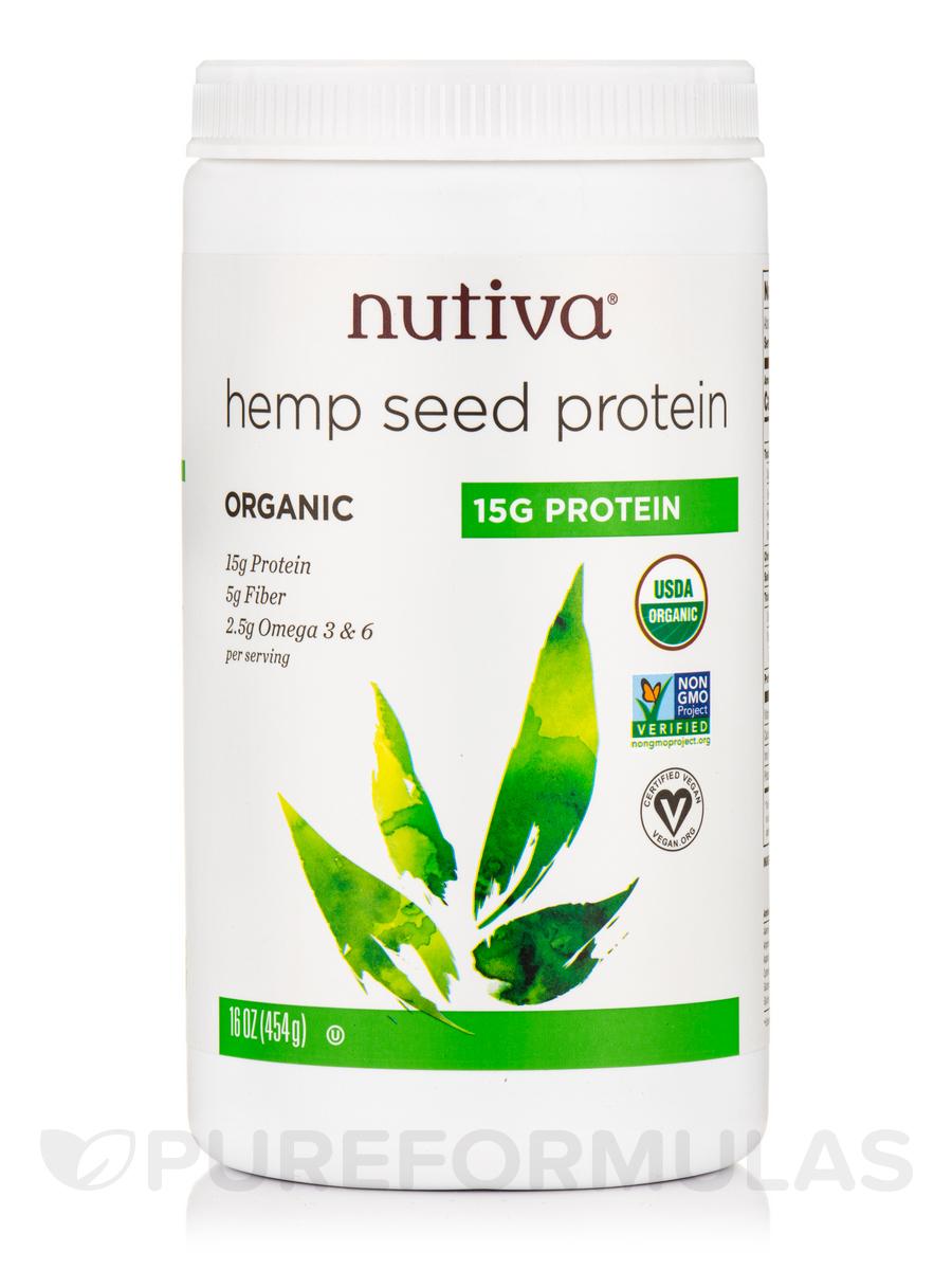 Organic Seed Hemp Protein (15g Per Serving) - 16 oz (454 Grams)