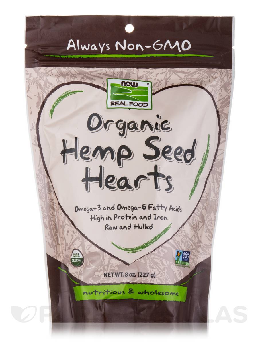 NOW® Real Food - Organic Hemp Seed Hearts - 8 oz (227 Grams)