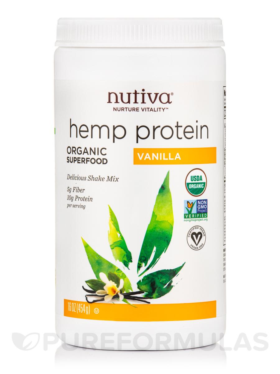 Organic Hemp Protein, Vanilla - 16 oz (454 Grams)