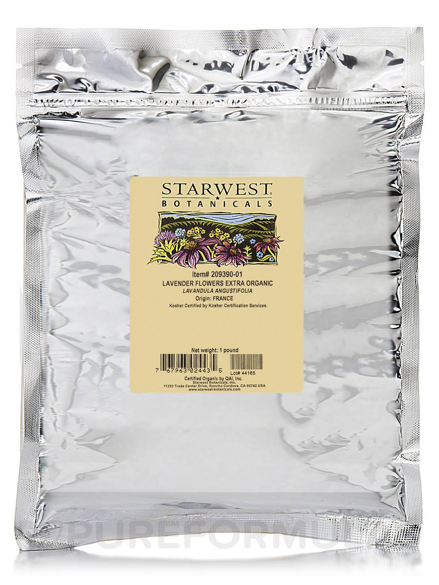 Organic Lavender Flowers Whole Extra - 1 lb